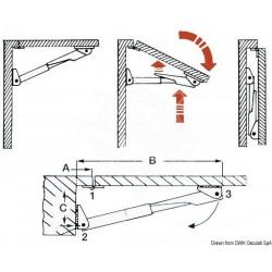 Support table pliante Rakego 60 kg 20/30 mm