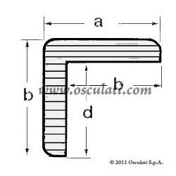 Profil teck en L 23x23 mm