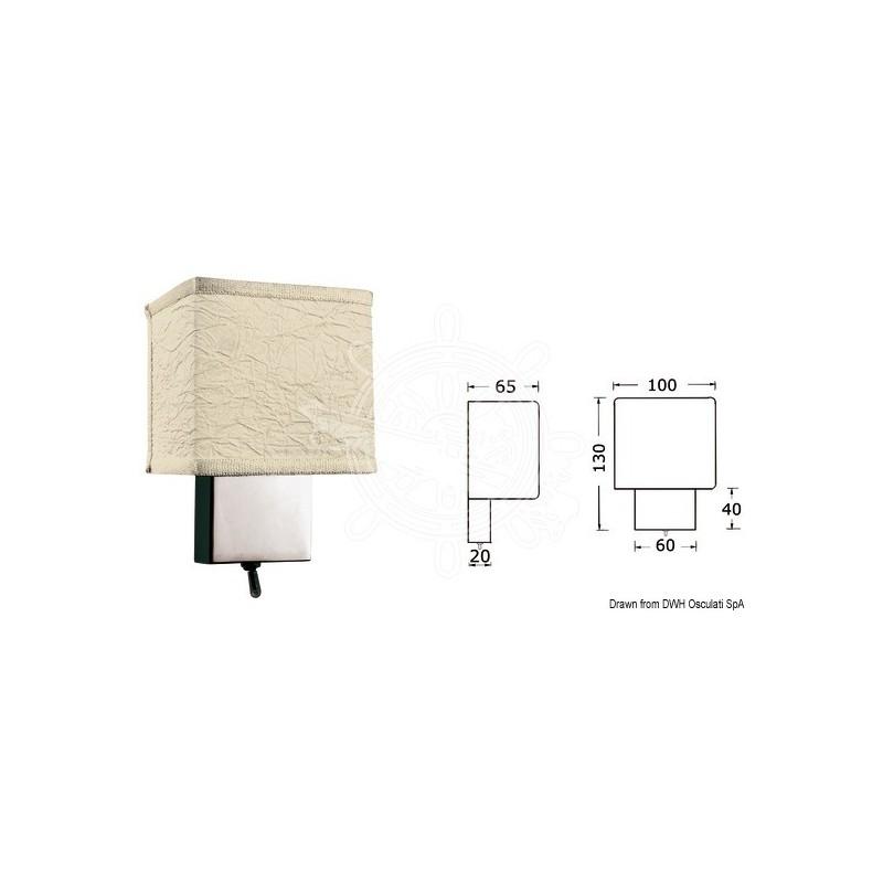 spot vertical en laiton chrom avec interrupteur omax marine. Black Bedroom Furniture Sets. Home Design Ideas