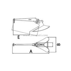 Ancre LEWMAR C.Q.R.® en acier moulé et galvanisé à chaud 7KG
