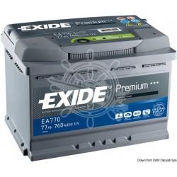 Batteries EXIDE Premium 53 A EA530 pôle Droit 207x175x190