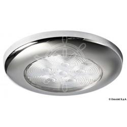 Plafonnier LED à encastrer Polie miroir 12/24 V 6 Led Couleur Bleue