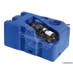 Réservoir des eaux usées 50 Litres 12 V avec broyeur horizontal et bouchons embout