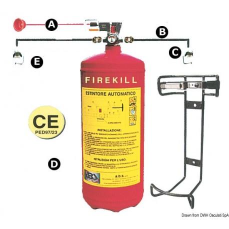 Système d'extinction Firekill avec pressostat 3 kg